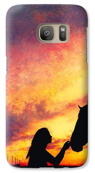 Equine Sunset Galaxy S7 Case by Debi Bishop