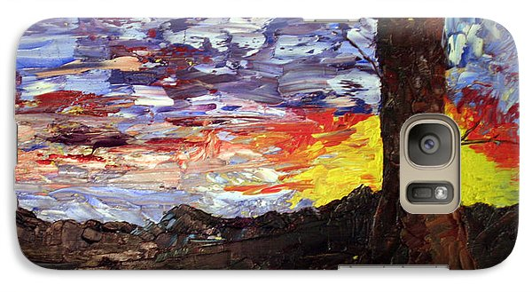 Galaxy Case featuring the painting Erda Sunset by Jane Autry