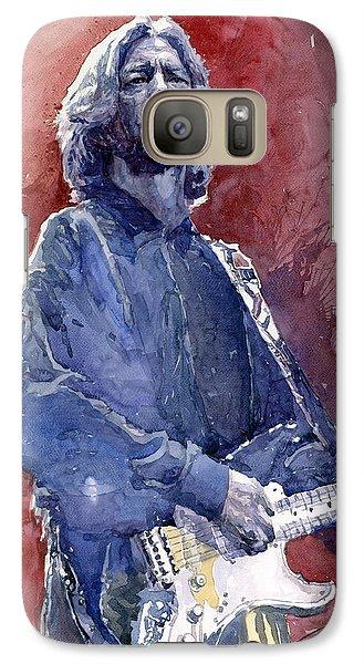 Eric Clapton 04 Galaxy S7 Case by Yuriy  Shevchuk