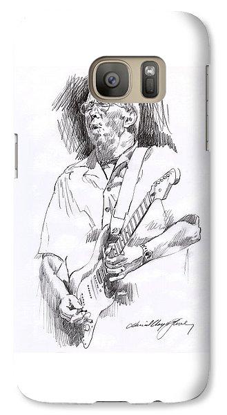 Eric Clapton Blue Galaxy S7 Case by David Lloyd Glover