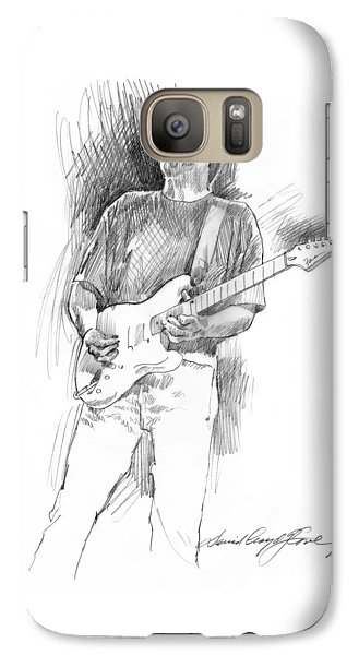 Eric Clapton Strat Galaxy S7 Case by David Lloyd Glover