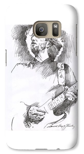 Eric Clapton Galaxy S7 Case - Eric Clapton Sustains by David Lloyd Glover