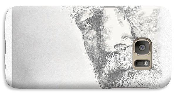 Galaxy Case featuring the drawing Ernest Hemingway by Antonio Romero