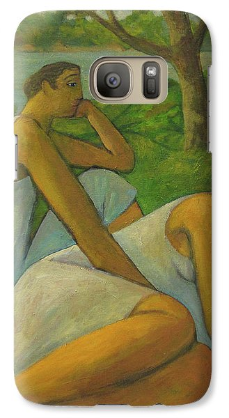 Galaxy Case featuring the painting Eros And Rhea by Glenn Quist