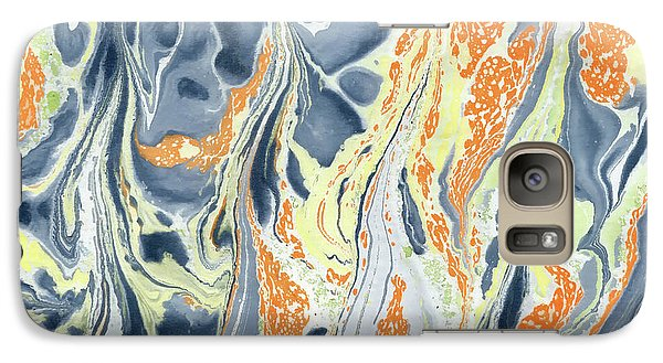 Galaxy Case featuring the painting Erupting Lava by Menega Sabidussi