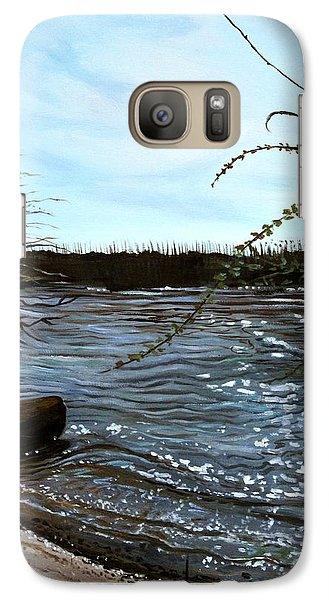 Galaxy Case featuring the painting Escape With Me by Elizabeth Robinette Tyndall