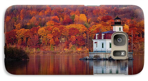 Galaxy Case featuring the photograph Esopus Lighthouse In Late Fall #1 by Jeff Severson