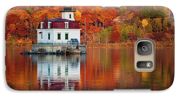 Galaxy Case featuring the photograph Esopus Lighthouse In Late Fall #2 by Jeff Severson