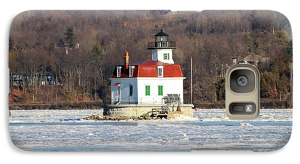 Galaxy Case featuring the photograph Esopus Lighthouse In Winter #2 by Jeff Severson
