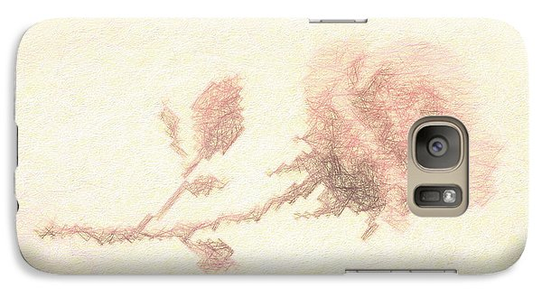 Galaxy Case featuring the photograph Etched Red Rose by Linda Phelps