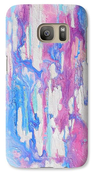 Galaxy Case featuring the mixed media Eternal Flow by Irene Hurdle
