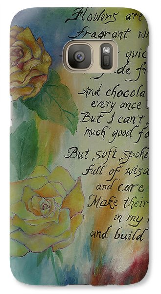 Galaxy Case featuring the painting Eternity by Miriam Leah