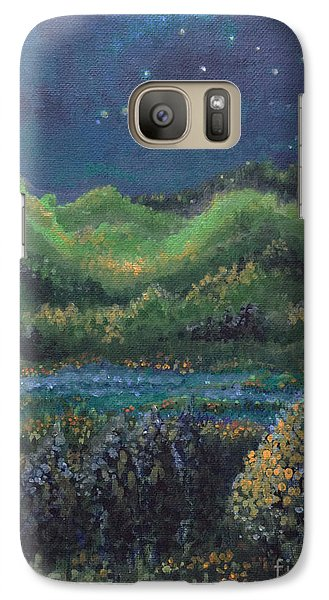 Galaxy Case featuring the painting Ethereal Reality by Holly Carmichael