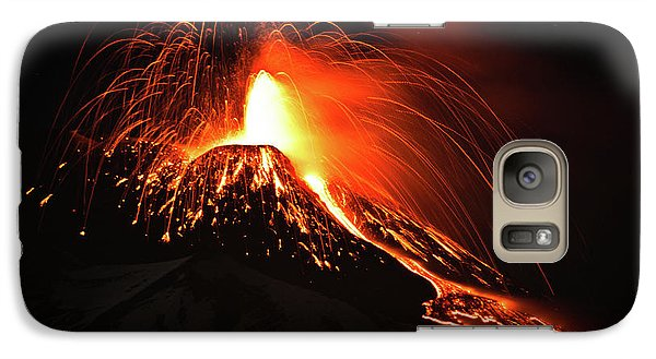 Galaxy Case featuring the pyrography Etna by Bruno Spagnolo