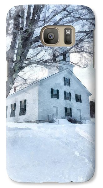 Galaxy Case featuring the painting Etna Center Church by Edward Fielding