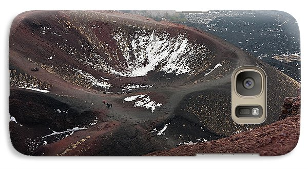 Galaxy Case featuring the photograph Etna, Red Mount Crater by Bruno Spagnolo
