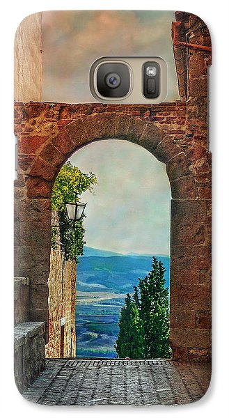 Galaxy Case featuring the photograph Etruscan Arch by Hanny Heim