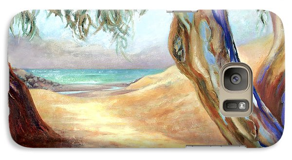 Galaxy Case featuring the painting Eucalyptus Beach Trail by Michael Rock