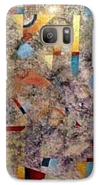 Galaxy Case featuring the painting Euclidean Perceptions by Bernard Goodman