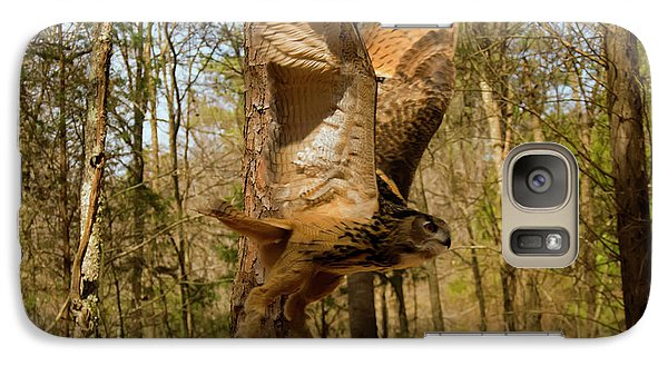 Eurasian Eagle Owl In Flight Galaxy S7 Case