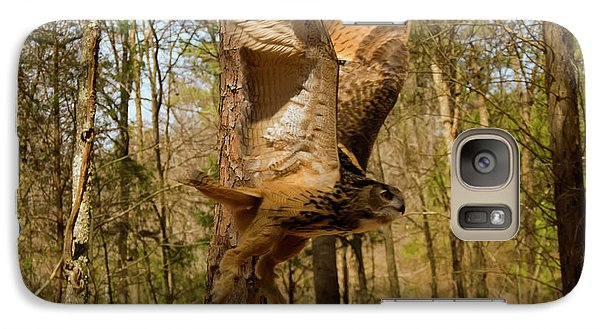 Galaxy Case featuring the photograph Eurasian Eagle Owl In Flight by Chris Flees