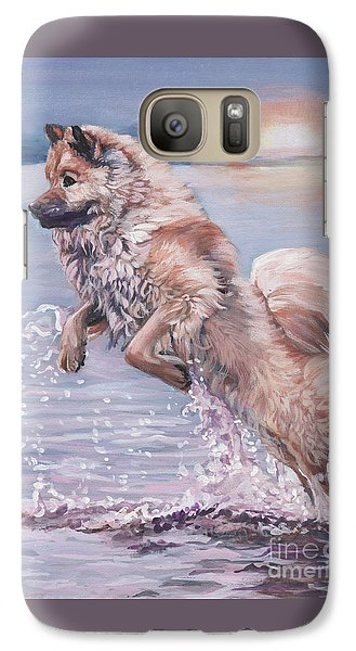 Galaxy Case featuring the painting Eurasier In The Sea by Lee Ann Shepard