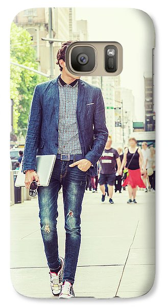European College Student Studying In New York Galaxy S7 Case