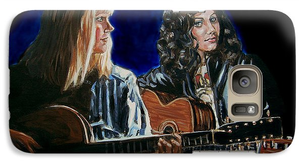 Galaxy Case featuring the painting Eva Cassidy And Katie Melua by Bryan Bustard