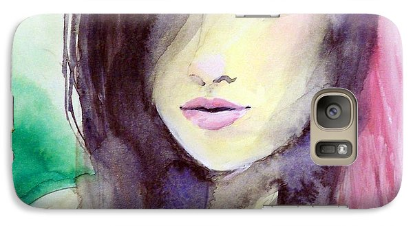 Galaxy Case featuring the painting Olivia by Ed  Heaton