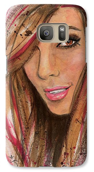 Galaxy Case featuring the painting Eva Longoria by P J Lewis