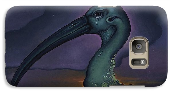 Galaxy Case featuring the painting Evening And The Hiss Of Sadness by Andrew Batcheller