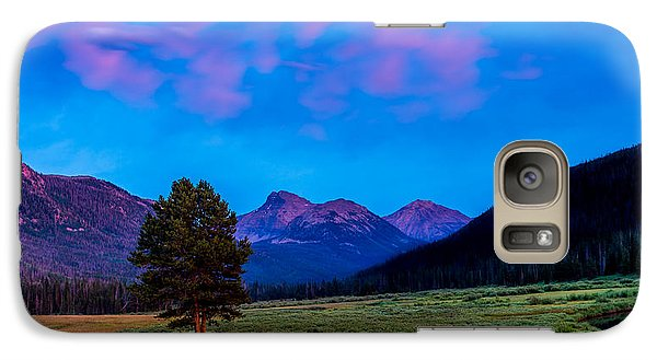 Evening At Christmas Meadows Galaxy S7 Case