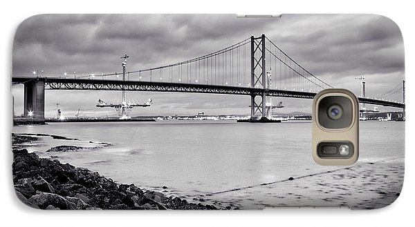 Galaxy Case featuring the photograph Evening At The Forth Road Bridges by RKAB Works