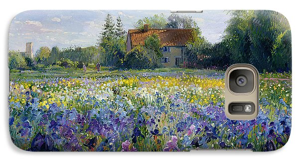 Evening At The Iris Field Galaxy Case by Timothy Easton