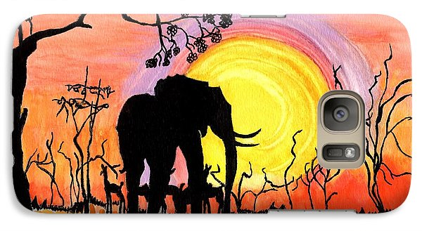 Galaxy Case featuring the painting Evening At The Pond by Connie Valasco