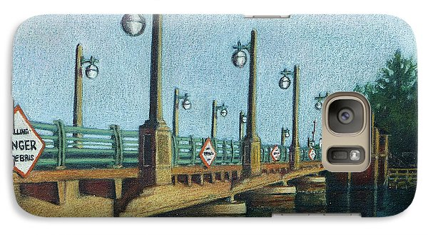 Galaxy Case featuring the painting Evening, Bayville Bridge by Susan Herbst