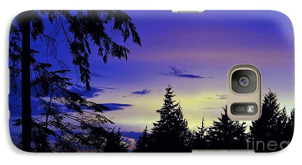 Galaxy Case featuring the photograph Evening Blue by Victor K