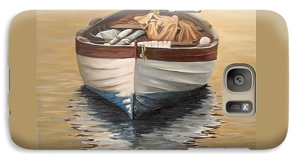 Galaxy Case featuring the painting Evening Boat by Natalia Tejera
