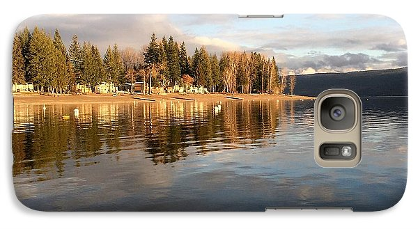 Galaxy Case featuring the photograph Evening By The Lake by Victor K