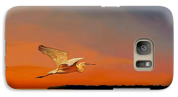 Galaxy Case featuring the painting Evening Flight by David  Van Hulst