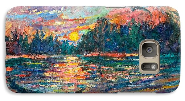 Galaxy Case featuring the painting Evening Flight by Kendall Kessler