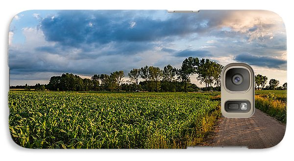 Galaxy Case featuring the photograph Evening In A Cornfield by Dmytro Korol