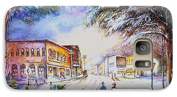 Galaxy Case featuring the painting Evening In Dunnville by Patricia Schneider Mitchell