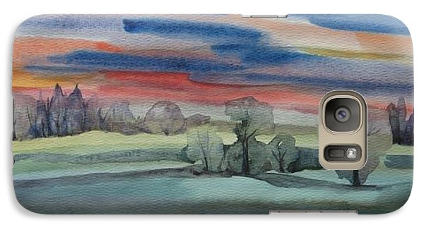 Galaxy Case featuring the painting Evening In Fishcreek Park by Anna  Duyunova