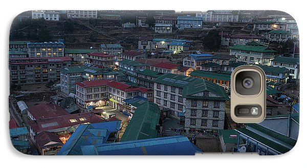Galaxy Case featuring the photograph Evening In Namche Nepal by Mike Reid
