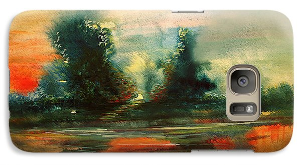 Galaxy Case featuring the painting Evening Light by Allison Ashton