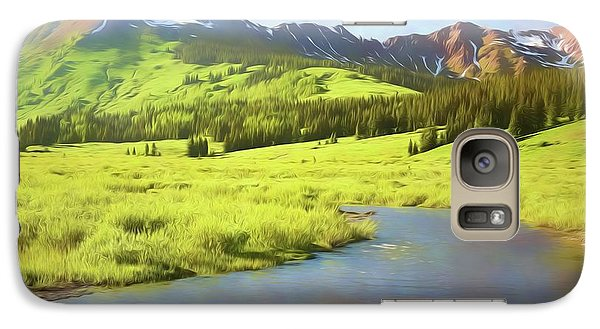 Galaxy Case featuring the photograph Evening Light In Soft Pastels by Eric Glaser