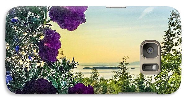 Galaxy Case featuring the photograph Evening Light On Orcas Island by William Wyckoff