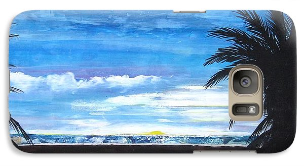 Galaxy Case featuring the painting Tropical Evening by Mary Ellen Frazee