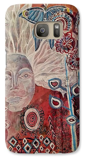 Galaxy Case featuring the mixed media Evening by Mimulux patricia no No